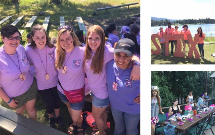 Residents volunteering at diabetes summer camp